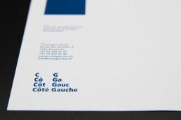 Graphisme - identité visuelle - Côté Gauche Christophe Golay