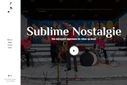 Sites internet - Sublime Nostalgie - Côté Gauche