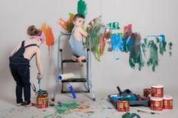 Photos Côté Gauche Christophe Golay - Studio - Séance peinture enfants